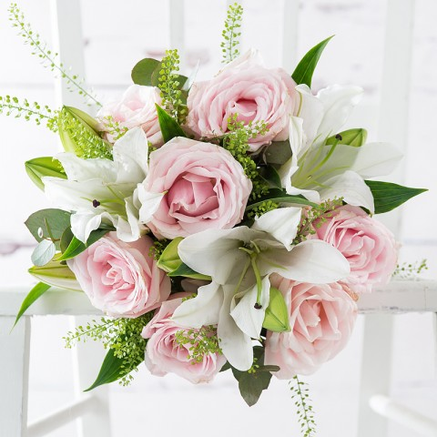 Simply Pink Rose & Lily & Pol Couronne