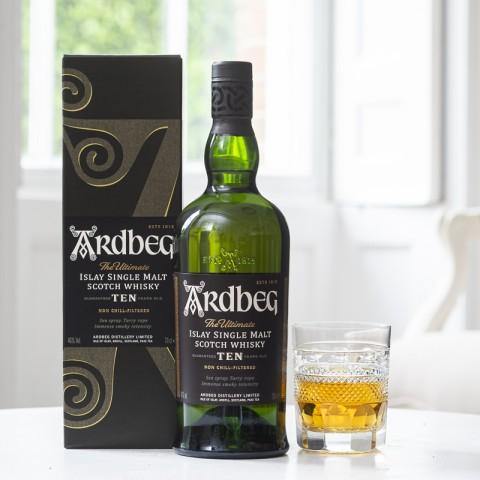 Ardbeg 10 Year Old Single Malt Whisky with Giftbox