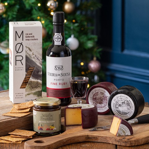 Christmas Classic Cheese and Port Luxury Hamper