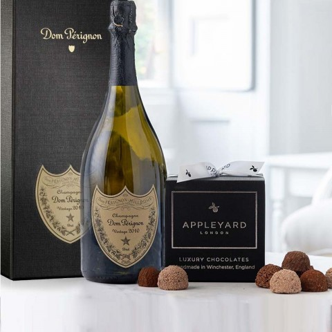 Dom Perignon 2010 Vintage Champagne and 12  handmade Chocolate Truffles
