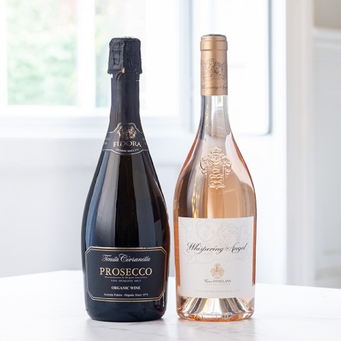 Whispering Angel and Fidora Prosecco Duo