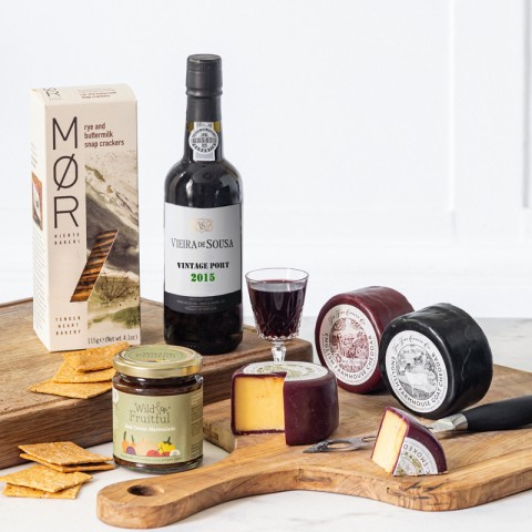 Deluxe, Cheese and Vintage Port Luxury Hamper