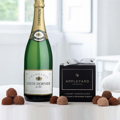 Louis Dornier Champagne and 12  handmade Chocolate Truffles
