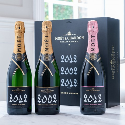 Moet & Chandon Grand Vintage Triology (2012, 2002, 2012 Rose)