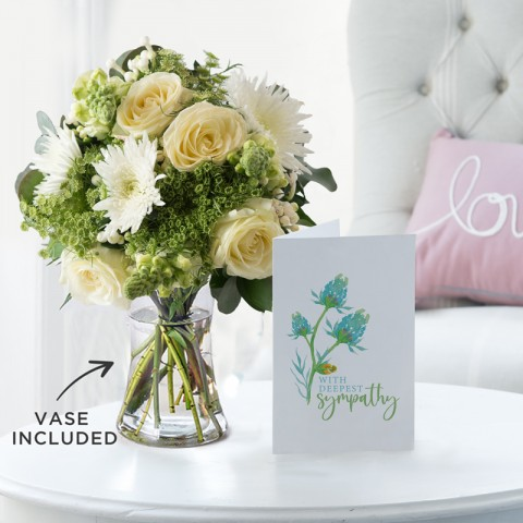 Purity, Vase & Sympathy Gift Card