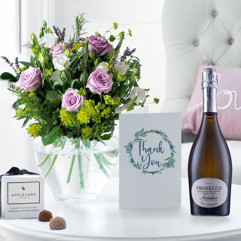 Scented Lavender, Prosecco, 6 Mixed Truffles & Thank You Gift Card