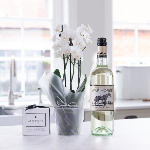White Orchid, War Horse Chenin Blanc & 6 Mixed Truffles