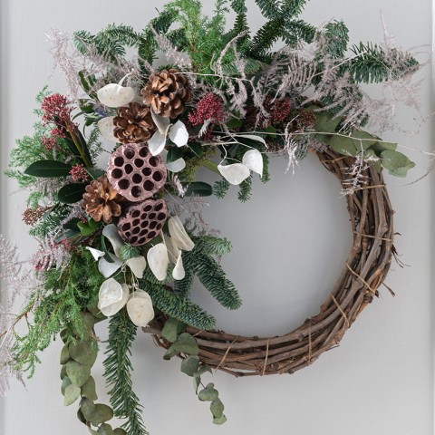 Winter Forest Half Wreath