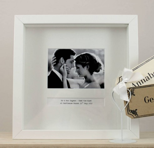 Personalised Wedding Gifts Glasgow : Personalised Wedding Day Photo Frame