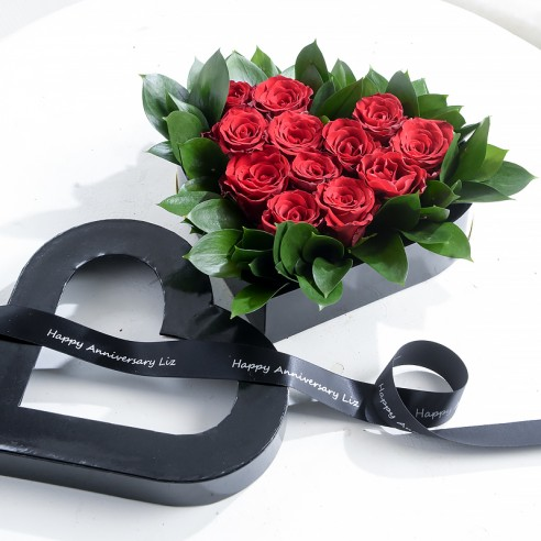 Red Rose Heart Box