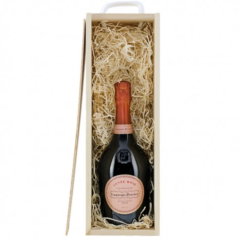 Laurent Perrier Rose in wooden box