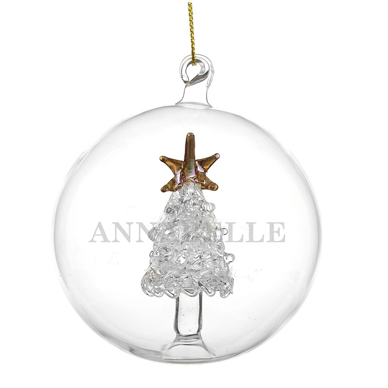 Christmas Tree With Baubles: Personalised Name Only Christmas Tree Glass Bauble