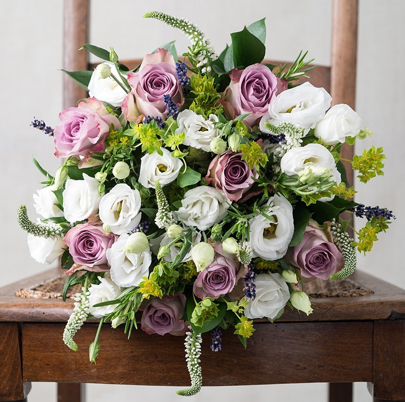 Birthday Flowers London: Scented Lavender & Pol Couronne
