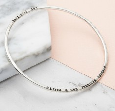 Personalised Message Bangle