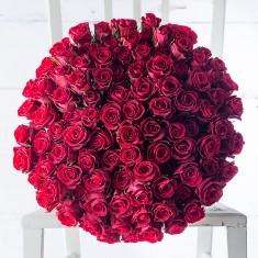 100 Red Roses & Dom Perignon