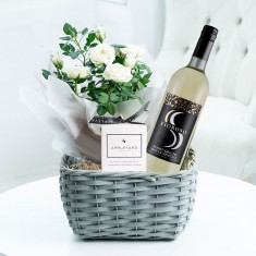 White Wine Plant Hamper