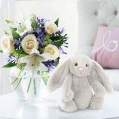 Bluebelle & Jellycat® Silver Bunny