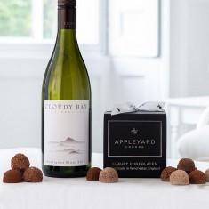 Cloudy Bay Sauvignon Blanc 2020 and 12  handmade Chocolate Truffles
