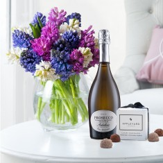 Fragrant Hyacinths, Prosecco & 6 Mixed Truffles