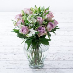 Lilac Rose & Alstro Cut Flowers Gift Set