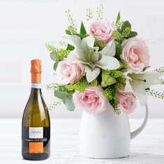 Simply Pink Rose & Lily & Dal Bello Prosecco