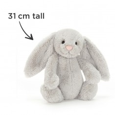 Simply Pink Rose & Lily & Jellycat Silver Bunny