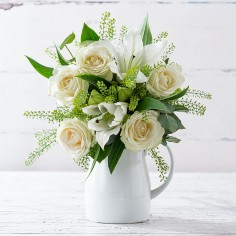 Simply White Rose & Lily
