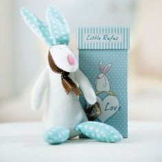 Baby Boy & Rufus Rabbit Rattle