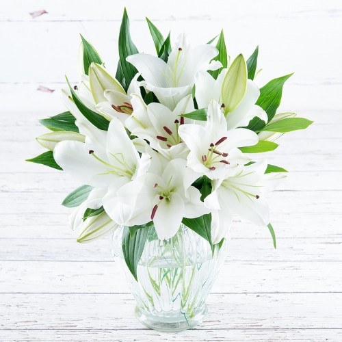 Simply White Lily Bouquet