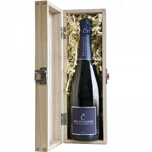 Pol Couronne Brut NV in wooden box