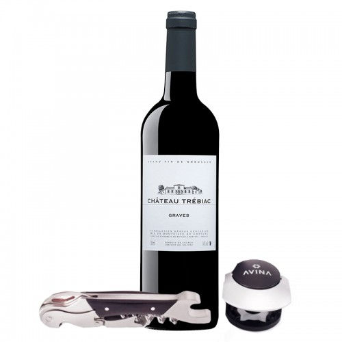 Red Bordeaux & Corkscrew Gift Set
