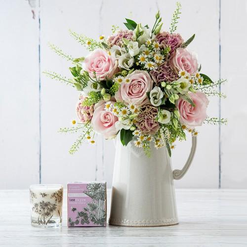 Rhubarb & Raspberry Candle Gift Set